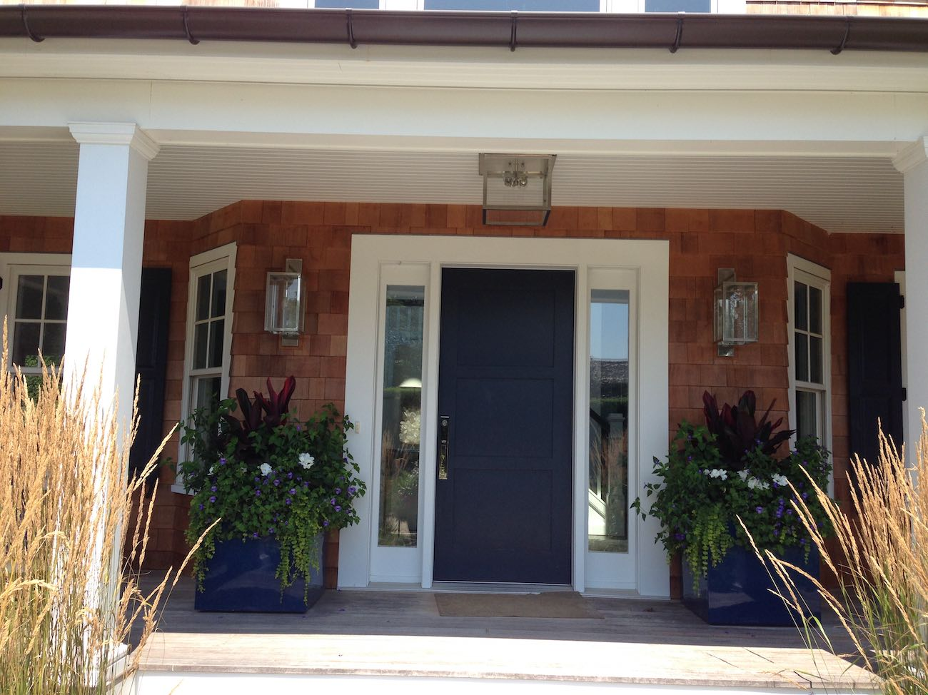 Front Entry Renovation of Dated House in Southampton
